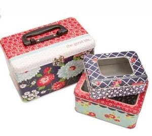Small Image of Moda Fabric The Good Life Sewing Tins Set