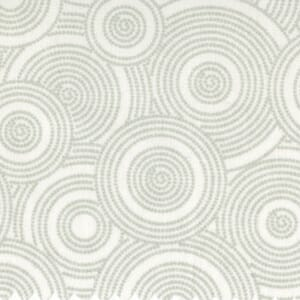 Quilt Backing Fabric 108 Inch Wide Tone on Tone White on White Dotted Circles Cotton Fabric