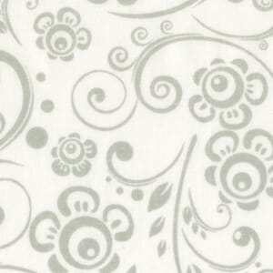 Quilt Backing Fabric 108 Inch Wide Tone on Tone Grey on White Scroll Cotton Fabric