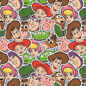 Toy Story Fabric Toy Group Faces
