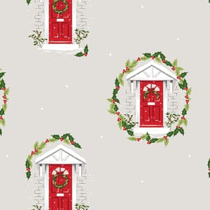 Traditional Christmas Red Door