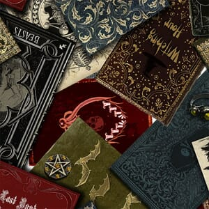 Timeless Treasures Wicked Spell Books Fabric