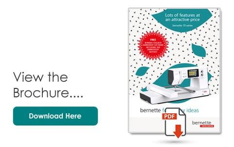 Bernette B70 Deco Product Brochure