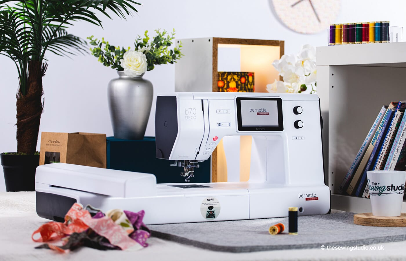 Bernette B70 DECO Embroidery Machine in a Sewing Room