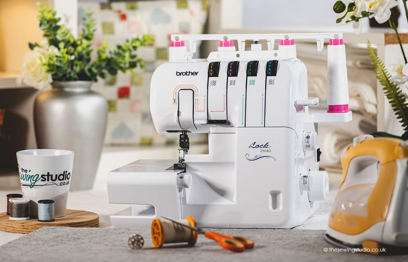 Brother 2104D Overlocker Machine in a Sewing Room