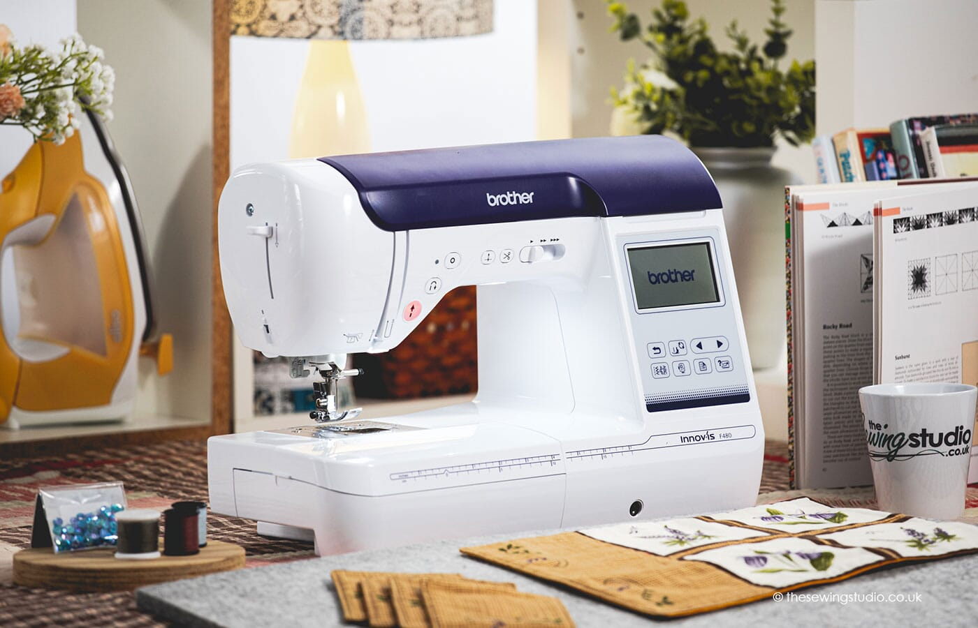 Brother F480 Sewing & Embroidery Machine in a Sewing Room