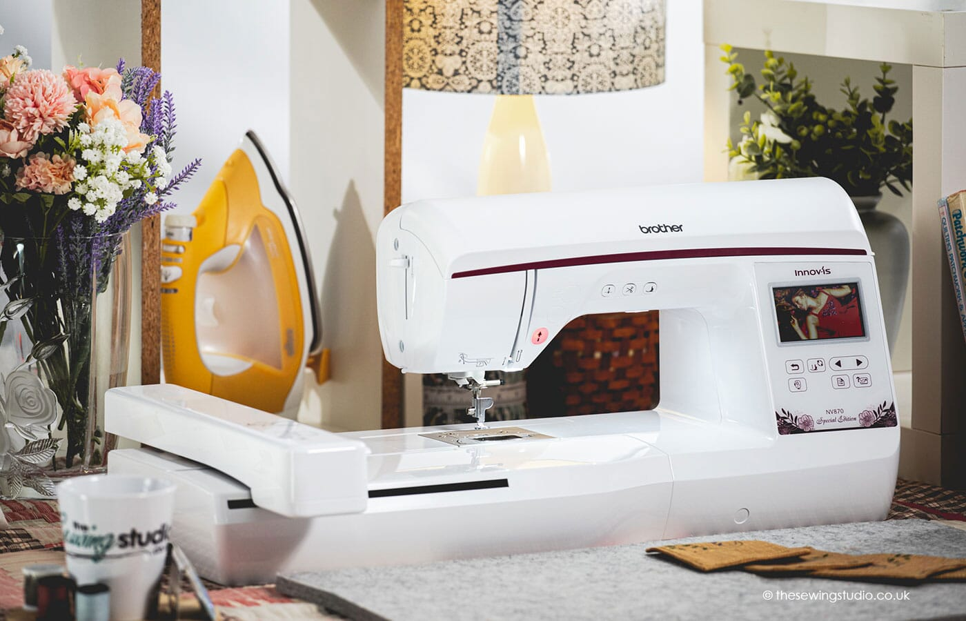 Brother 870SE Embroidery Machine in a Sewing Room