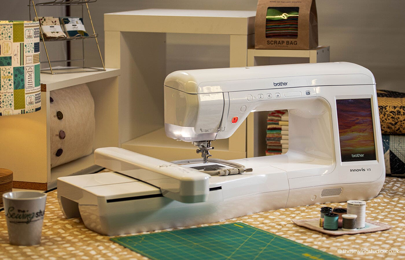 Brother Innov-is V3 Embroidery Machine in a Sewing Room