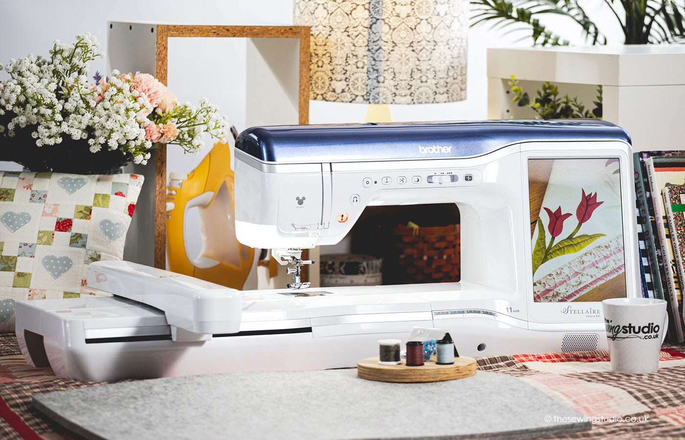 Brother XJ1 Sewing & Embroidery Machine in a Sewing Room