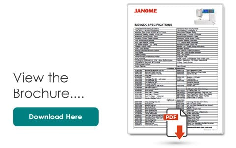 Janome 5270QDC Specifications Leaflet