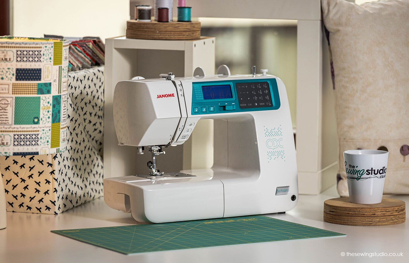 Janome 5270QDC Sewing Machine in a Sewing Room
