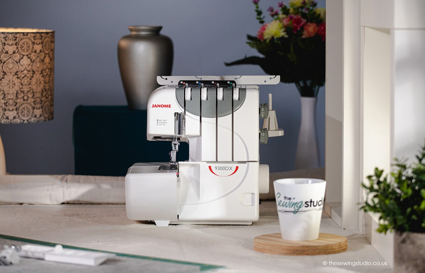 Janome 9300DX Overlocker Machine in a Sewing Room