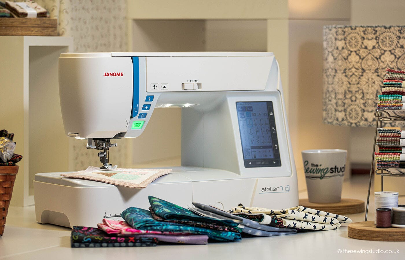 Janome Atelier 7 Sewing Machine in a Sewing Room