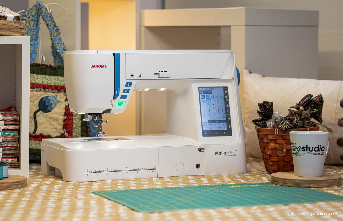 Janome Atelier 9 Sewing Machine in a Sewing Room