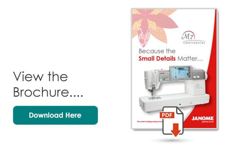 Janome M7 Product Brochure