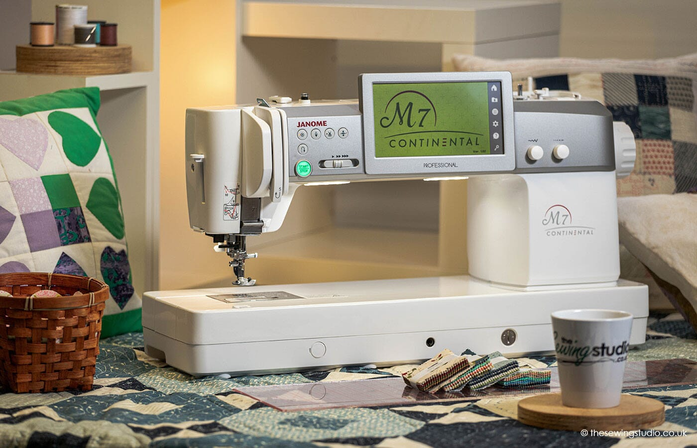 Janome M7 Continental Sewing Machine in a Sewing Room