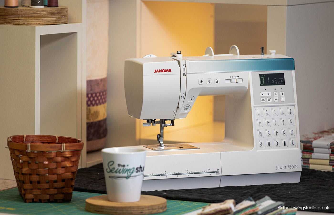 Janome 780DC Sewing Machine in a Sewing Room
